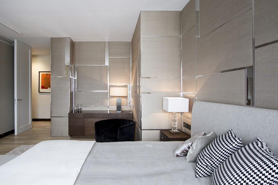 Eleganckie wnętrza według Katarzyny Kraszewskiej sypialnia art deco