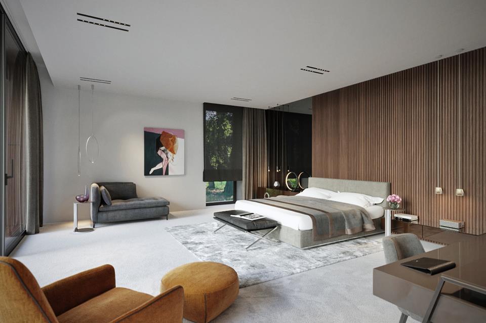 Eleganckie wnętrza według Katarzyny Kraszewskiej sypialnia