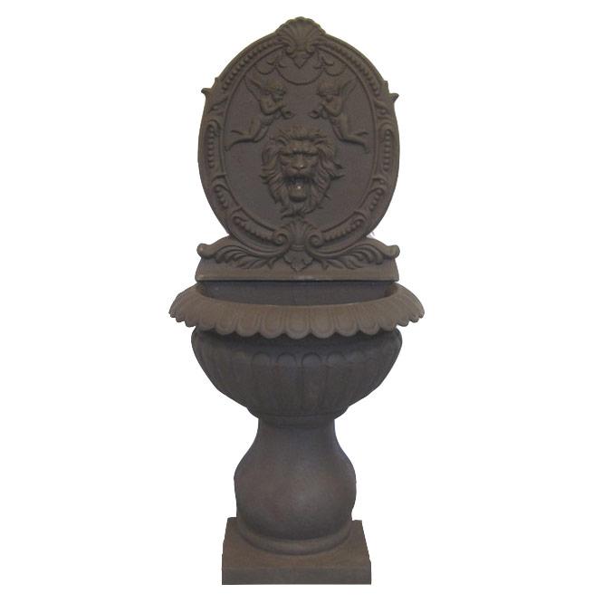 Żeliwna fontanna ścienna Głowa lwa z aniołami