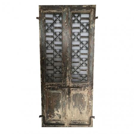 Dekoracyjne drzwi postarzane ażurowe