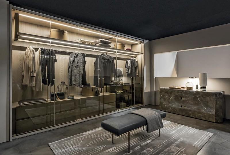 Garderoba w nowoczesnym stylu Kamienna-komoda Prism