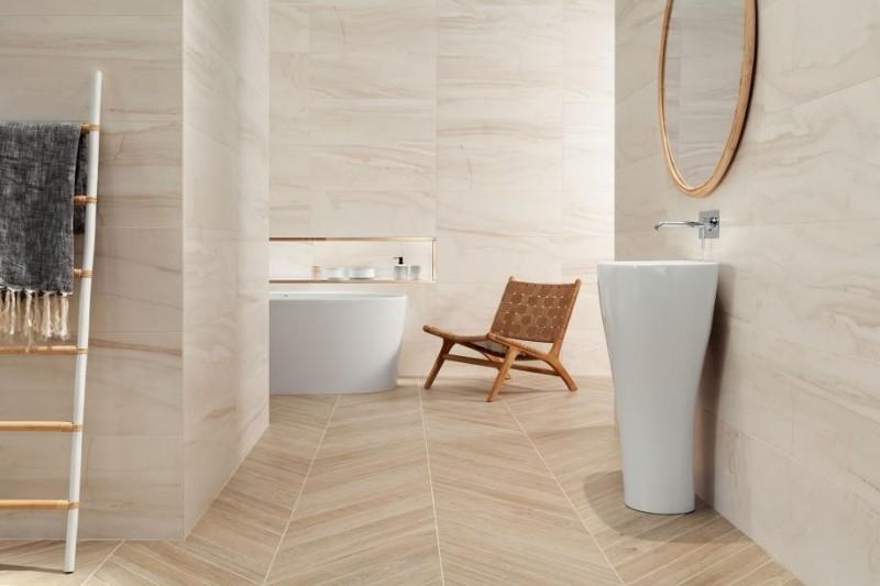 Urządź łazienkę w stylu wabi-sabi Tubądzin Tokyo Sheen