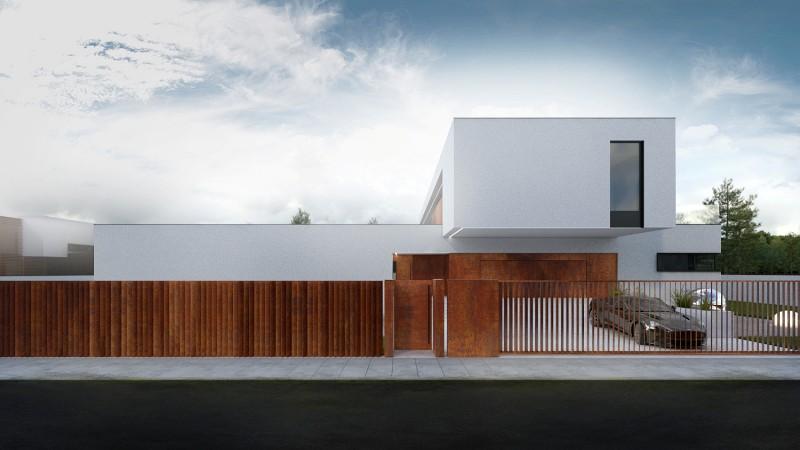Dom jednorodzinny w minimalistycznym stylu Łódź