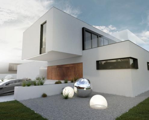 Dom jednorodzinny w minimalistycznym stylu 1