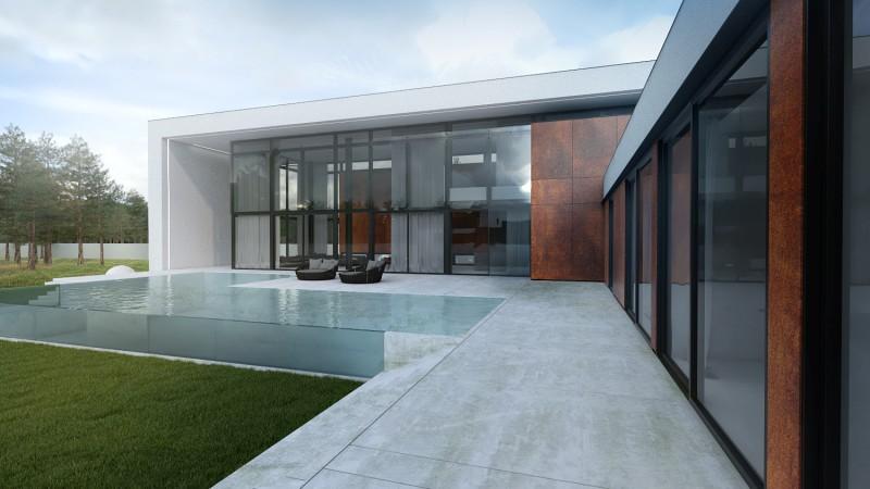 Dom jednorodzinny w minimalistycznym stylu projekt domu Łódź