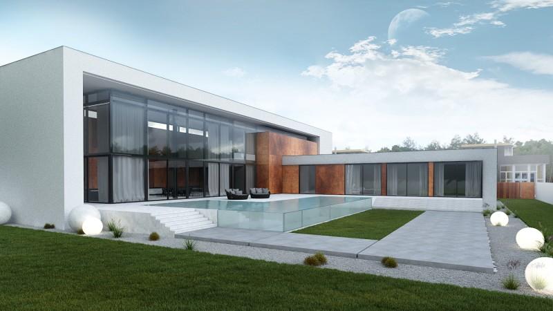 Dom jednorodzinny w minimalistycznym stylu projektant Łódź