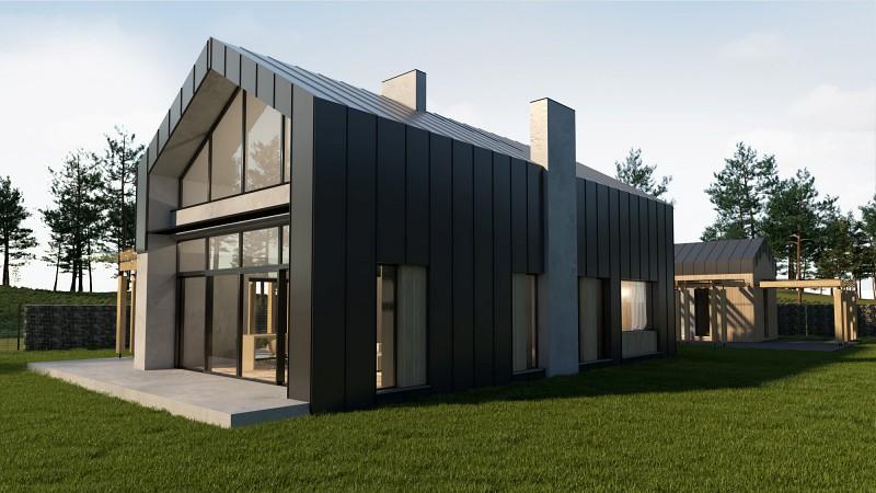 Dom stodoła w nowoczesnym stylu