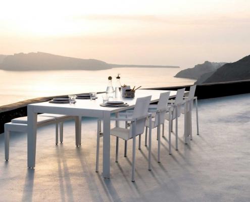 Krzesła ogrodowe Mirthe stół Natal Alu Tribu