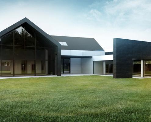 Nowoczesna rezydencja w minimalistycznym wydaniu projekty domów Łódź 1