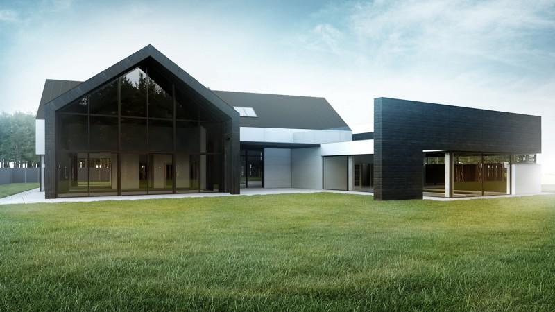 Nowoczesna rezydencja w minimalistycznym wydaniu