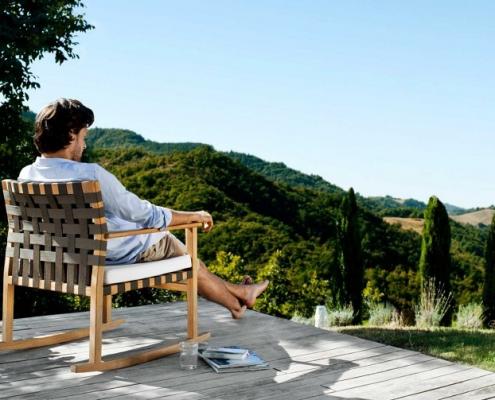 Ogrodowy fotel bujany Vis a Vis Tribu