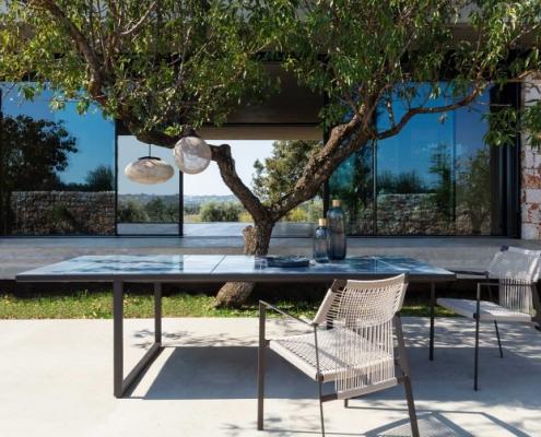 Stół i krzesła ogrodowe Nodi Tribu