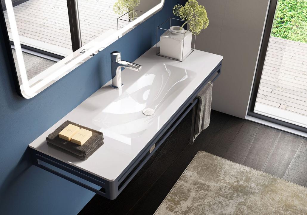 Umywalki w nowoczesnym stylu wpuszczane w blat Console