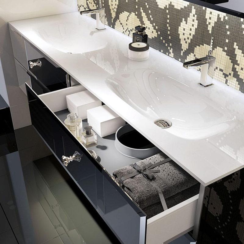 Umywalki w nowoczesnym stylu wpuszczane w blat Lux