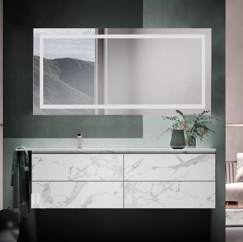 Umywalki w nowoczesnym stylu wpuszczane w blat Zero