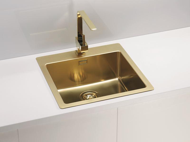 Złoto w łazience Armatura w złocie Alveus