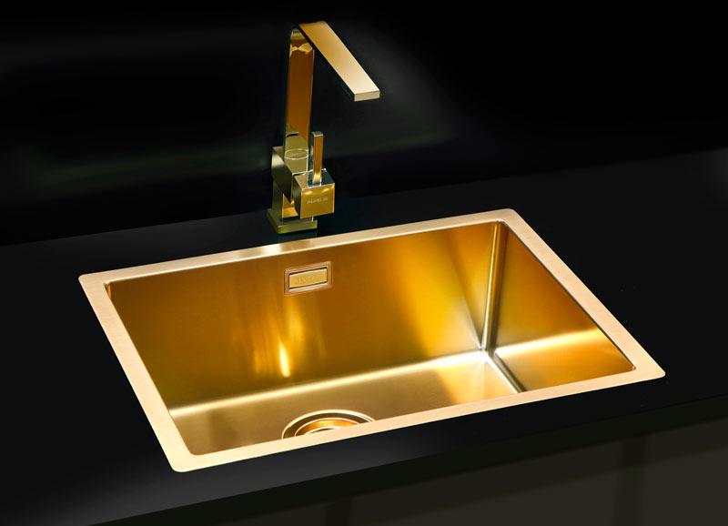 Złoto w łazience baterie Alveus