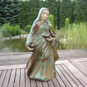 Ceramiczna rzeźba Maryja rękodzieło