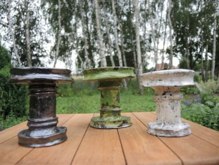 Ceramiczny świecznik Raku rękodzieło