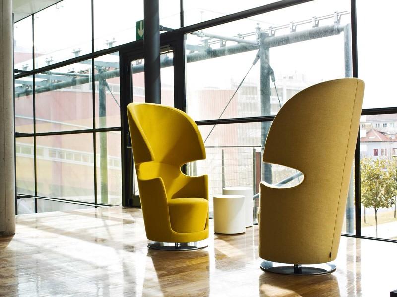 Fotele Folies Poltrona La Cividina - Nowoczesne siedziska do biura