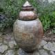 Oryginalna urna ceramiczna Raku rękodzieło