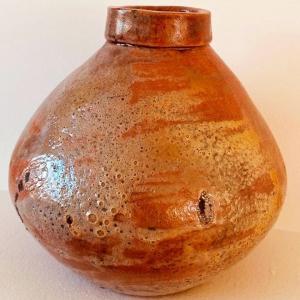Pomarańczowa waza Wabi Sabi