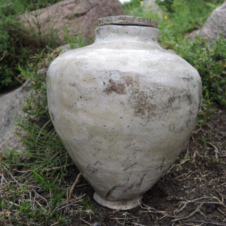 Szkliwiona urna ceramiczna Raku rękodzieło