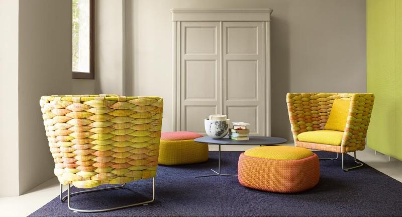Ami Paola Lenti - Kolorowe biura w nowoczesnym stylu
