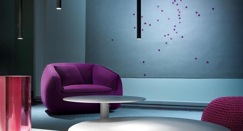 Bask Paola Lenti - Kolorowe biura w nowoczesnym stylu