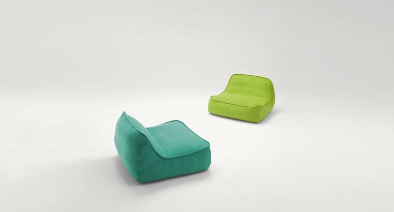 Float Paola Lenti - Kolorowe biura w nowoczesnym stylu