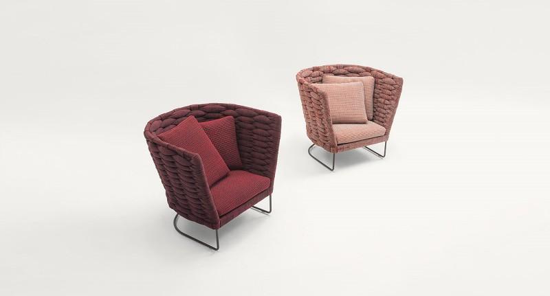 Fotele Ami Paola Lenti - Nowoczesne poczekalnie