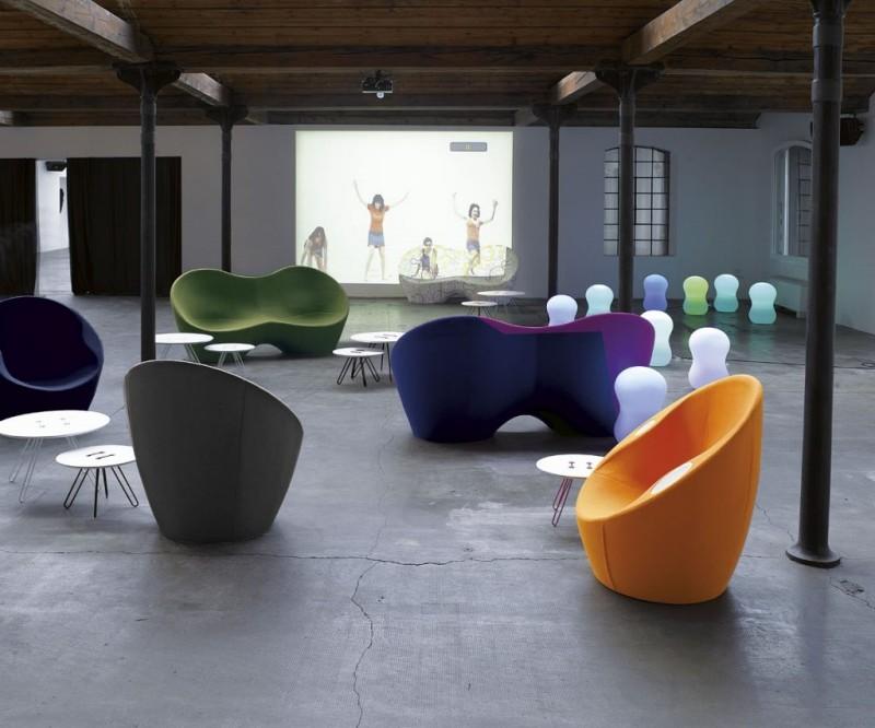 Fotele Kouch Horm Paola Lenti - Nowoczesne poczekalnie