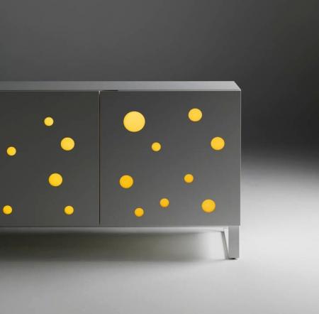 Podświetlany kredens Polka Dots Horm