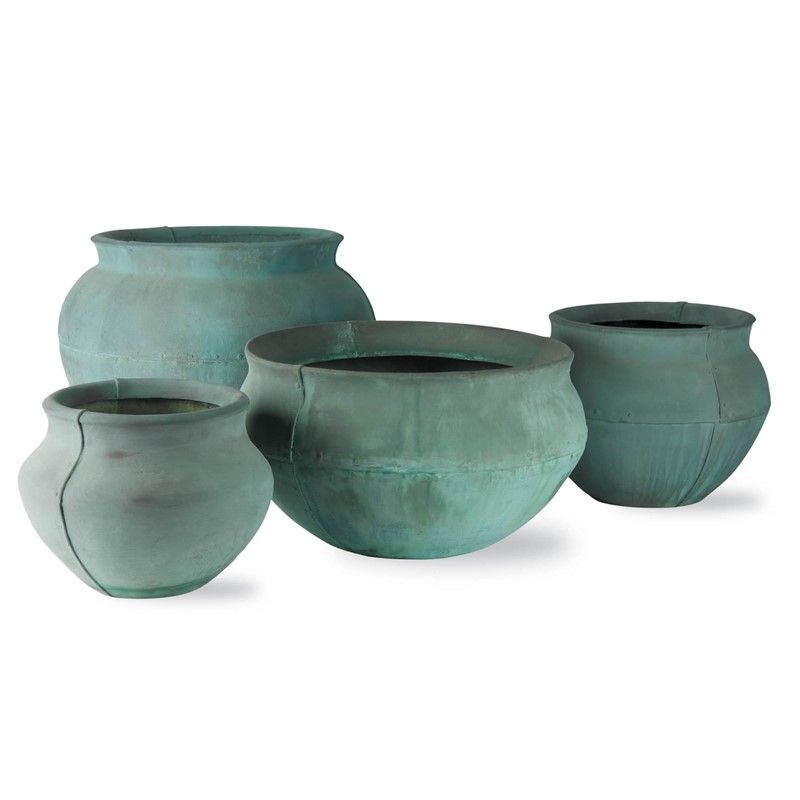Turkusowe donice ogrodowe Bell Jar 1
