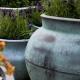 Turkusowe donice ogrodowe Bell Jar