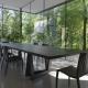 Czarny nowoczesny stół Quadror Horm Casamania