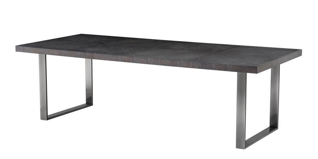 Stół Borghese bl nicke charcoal oak veneer