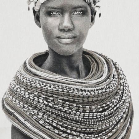 Gobelin Samburu Girl creme Thomas Albrecht