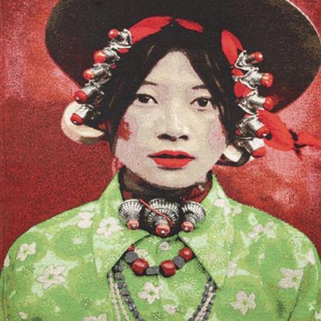 Gobelin Tibetan Girl Thomas Albrecht