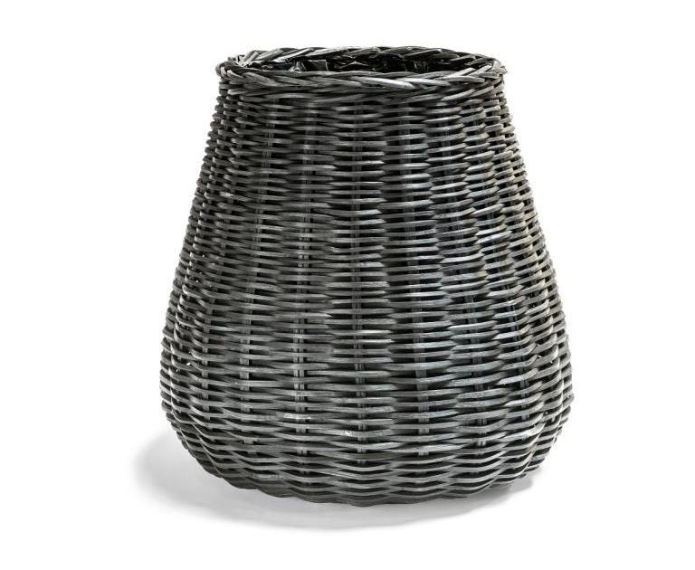 Czarne donice z wikliny PALM