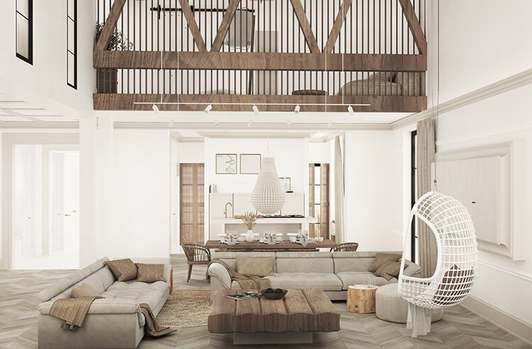 Projekt domu jednorodzinnego architektura wnetrz tromono
