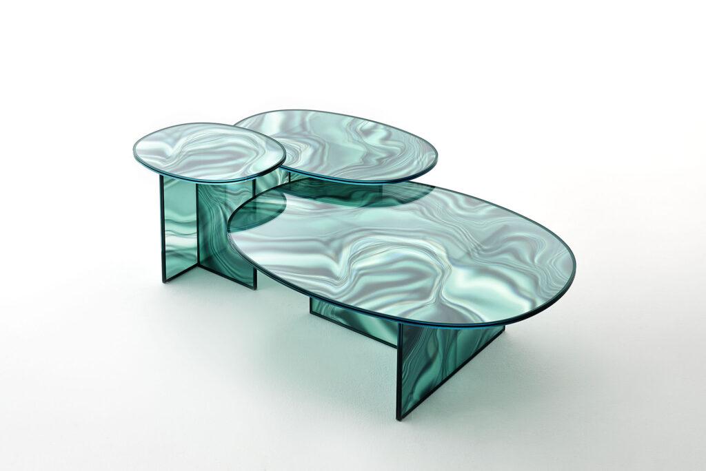 Szklane stoliki Liquefy GlasItalia PatriciaUrquiola