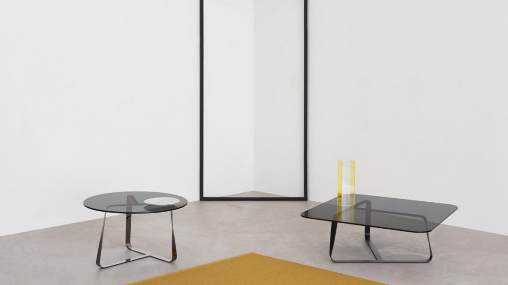Szklane stoliki Twister