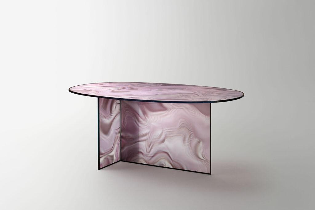 Szklany stół Liquefy GlasItalia PatriciaUrquiola