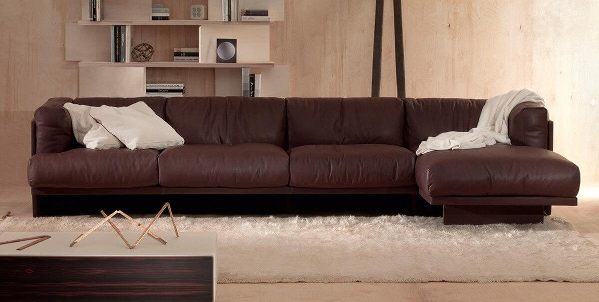 Fotele i sofy ze skory POLO Poltrona Frau