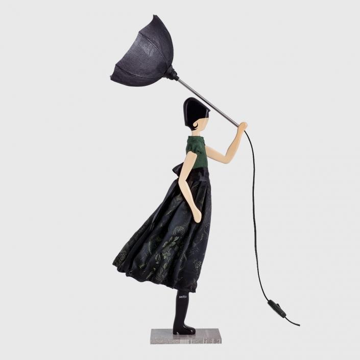 Czarna lampka dekoracyjna młodzieżowa BEATRICE
