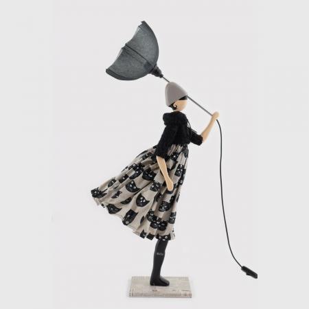 Czarna lampka dekoracyjna młodzieżowa SANTAL