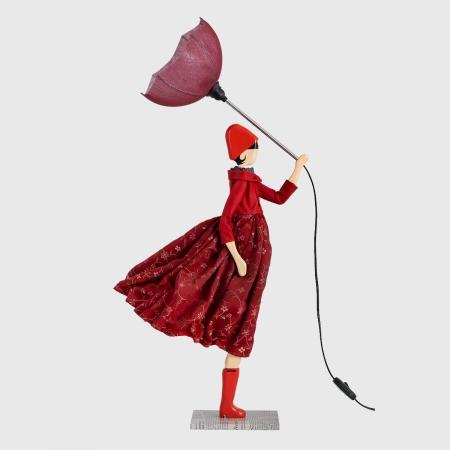 Czerwona lampka dziewczynka LUCRETIA Skitso