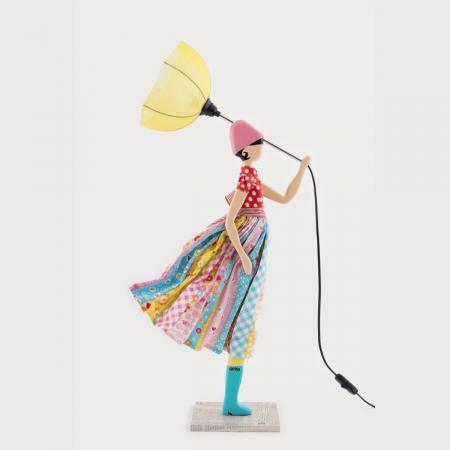 Kolorowa lampka dziewczynka IRIS Skitso