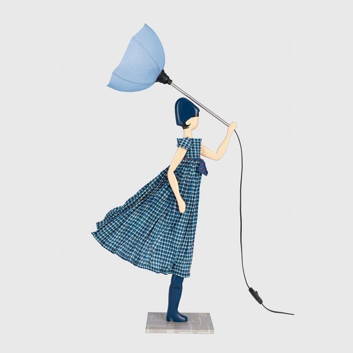 Niebieska lampka dziewczynka Skitso